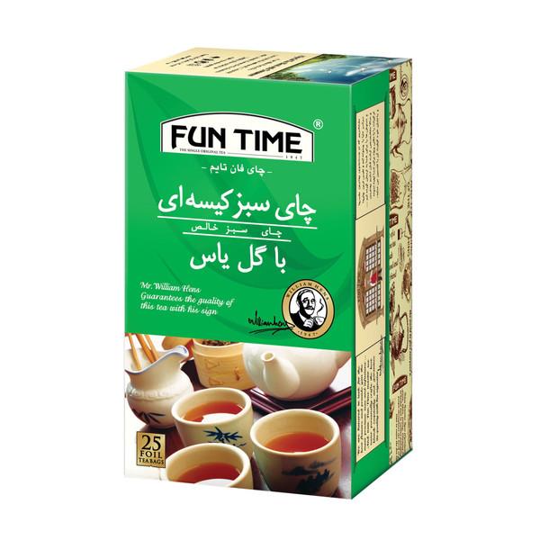 چای سبز کیسه ای گل یاس فان تایم بسته 25 عددی