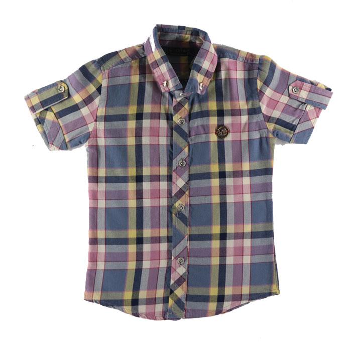 پیراهن پسرانه طرح چهارخانه کد z22