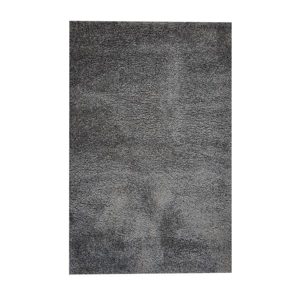 فرش ماشینی مدل شگی فلوکاتی زمینه نوک مدادی