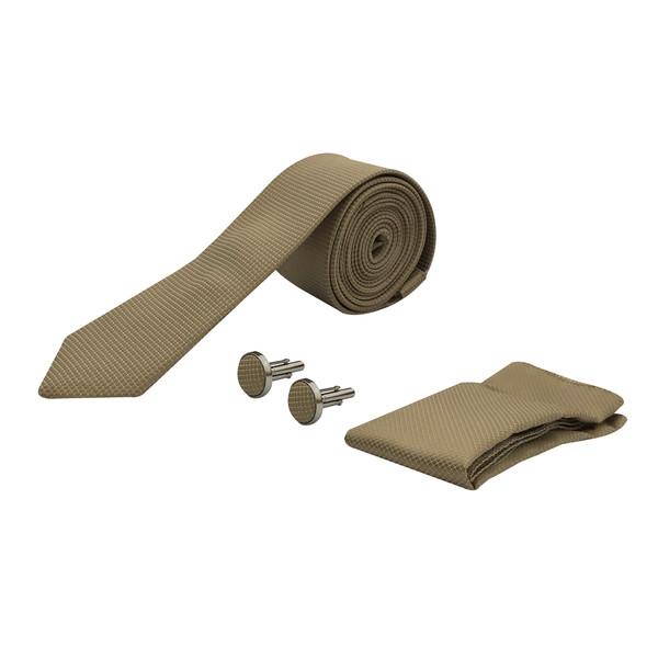 ست کراوات و دستمال جیب و دکمه سردست مردانه مدل 04