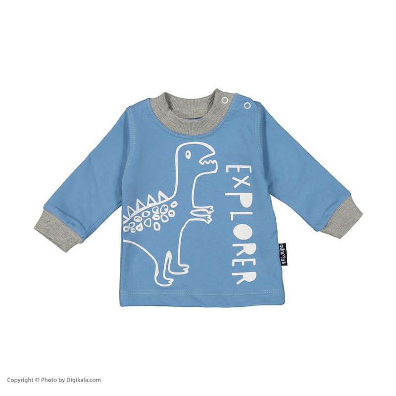 ست تی شرت و شلوارک پسرانه آدمک مدل 2171136-50