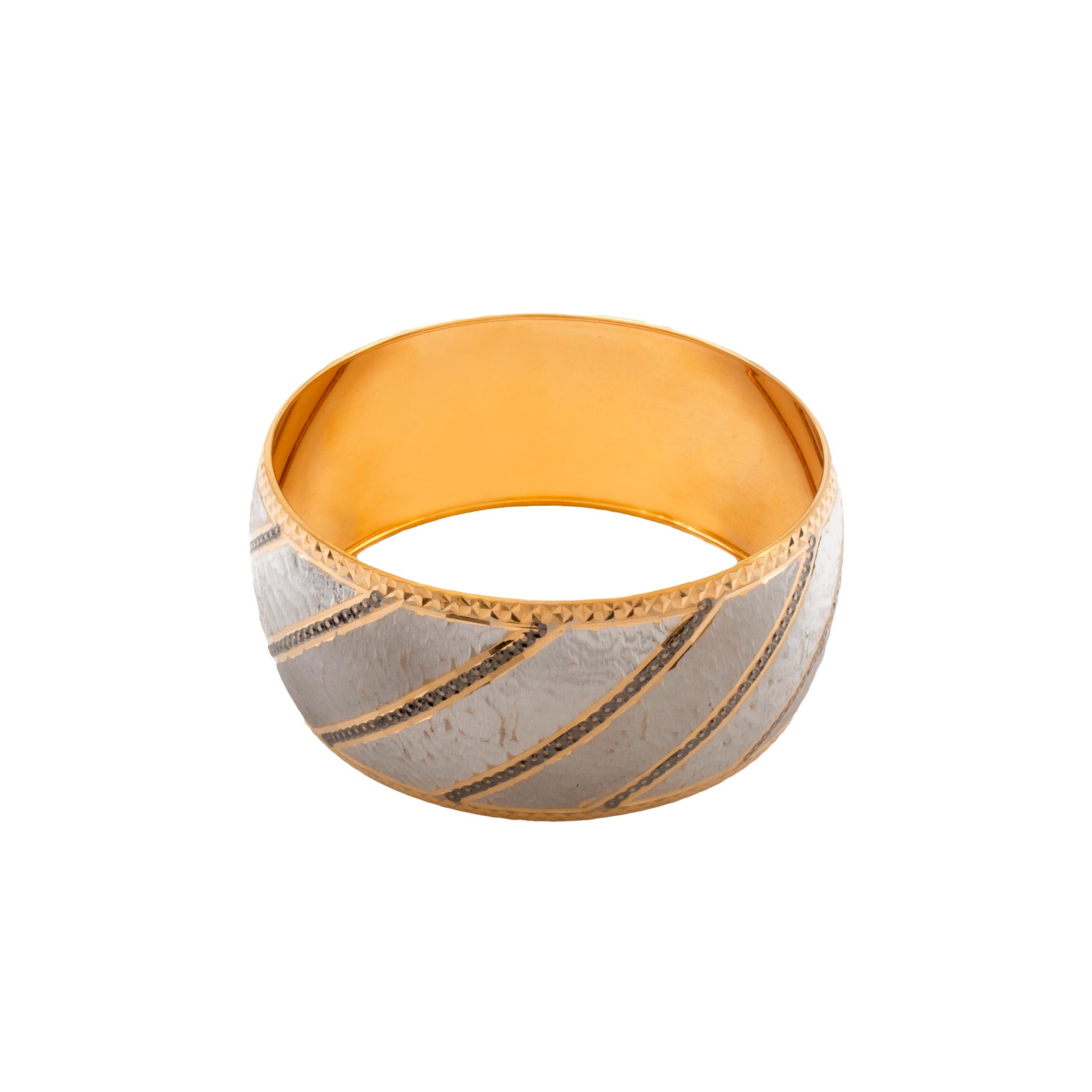 راهنمای خرید النگو طلا ۱۸ عیار زنانه دُرج مدل VB01-3 لیست قیمت