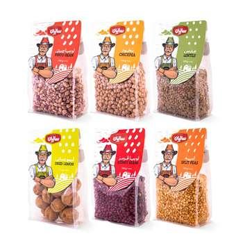 حبوبات  صنایع غذایی سالیان - 450 گرم مجموعه شش عددی