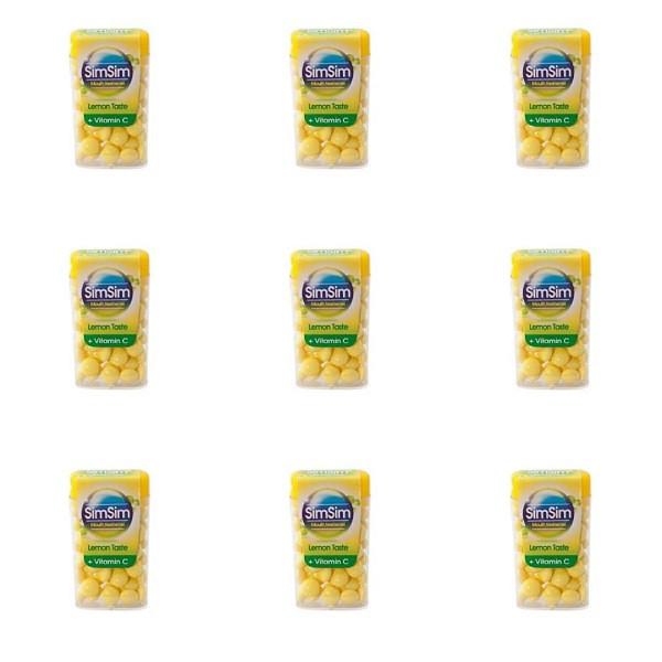 قرص خوشبو کننده دهان سیم سیم مدل لیمو مجموعه 9 عددی