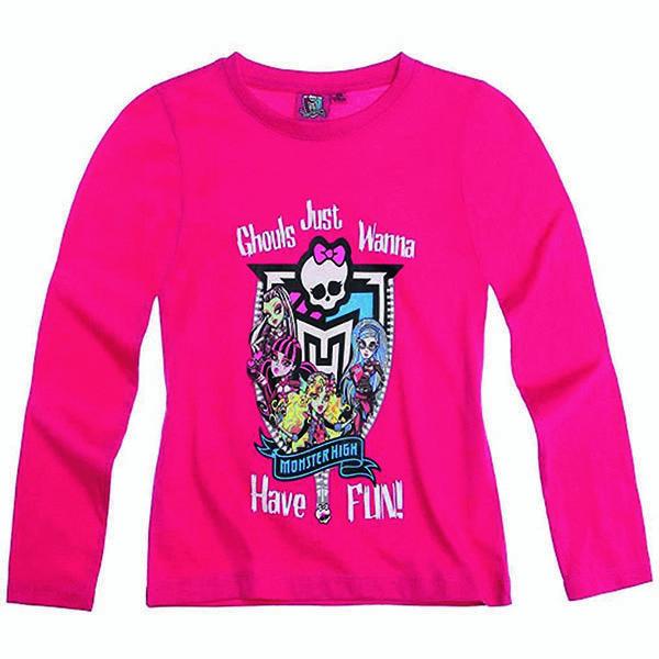 تی شرت آستین بلند دخترانه مانستر های مدل tabmp