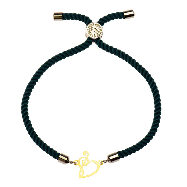 دستبند طلا 18 عیار دخترانه کرابو طرح قلب و کلید سل مدل Krd1057