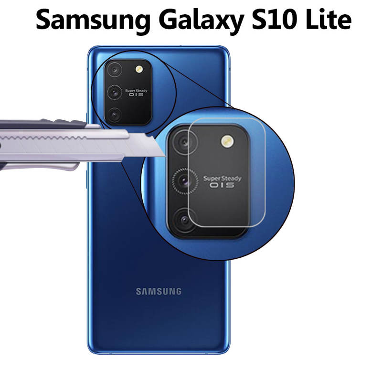 محافظ لنز دوربین لایونکس مدل UTFS مناسب برای گوشی موبایل سامسونگ Galaxy S10 Lite بسته دو عددی