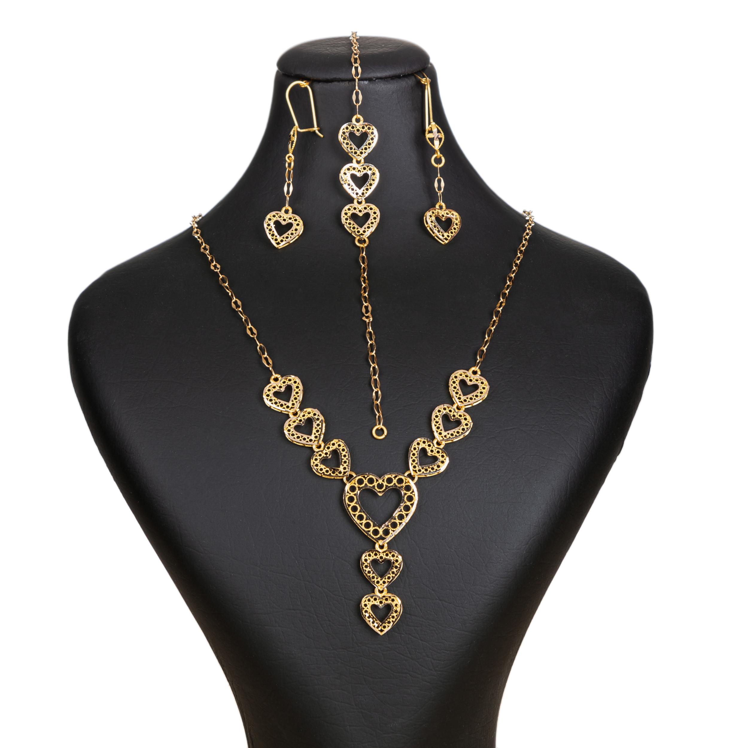 نیم ست طلا 18 عیار زنانه گالری یارطلا کد SR-02