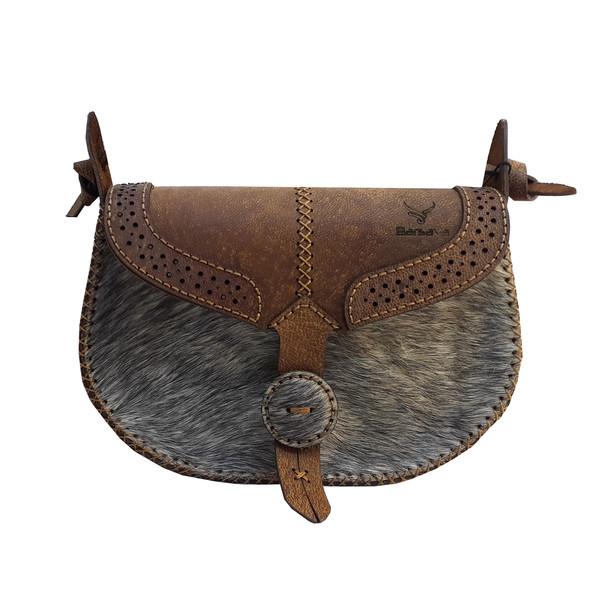 کیف دوشی زنانه چرم بارثاوا مدل 1258N