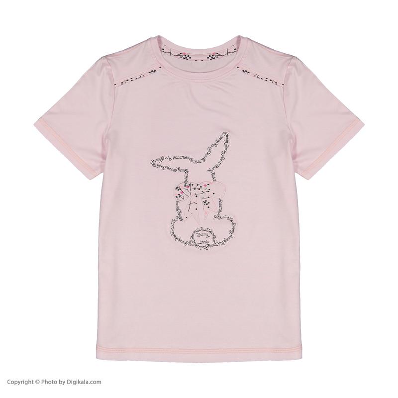 ست تی شرت و شلوار دخترانه ناربن مدل 1521284-84