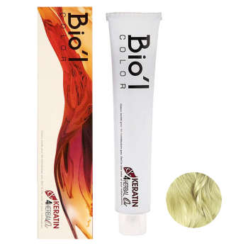 رنگ مو بیول شماره 10.7 حجم 100 میلی لیتر رنگ بلوند زیتونی پلاتینه