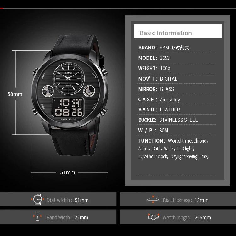 ساعت مچی عقربه ای مردانه اسکمی مدل 1653M