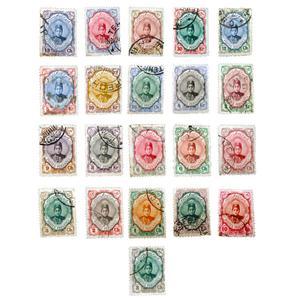 تمبر یادگاری سری قاجار مدل احمدی کد COM-54 مجموعه 21 عددی