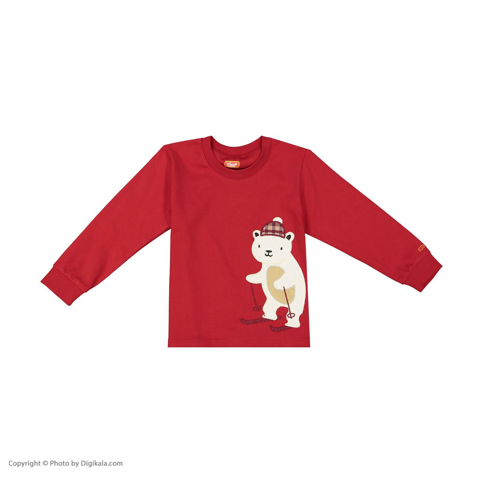 ست تی شرت و شلوار پسرانه مادر مدل 318-72 main 1 2