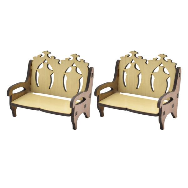 ماکت دکوری طرح صندلی دو نفره بسته 2 عددی