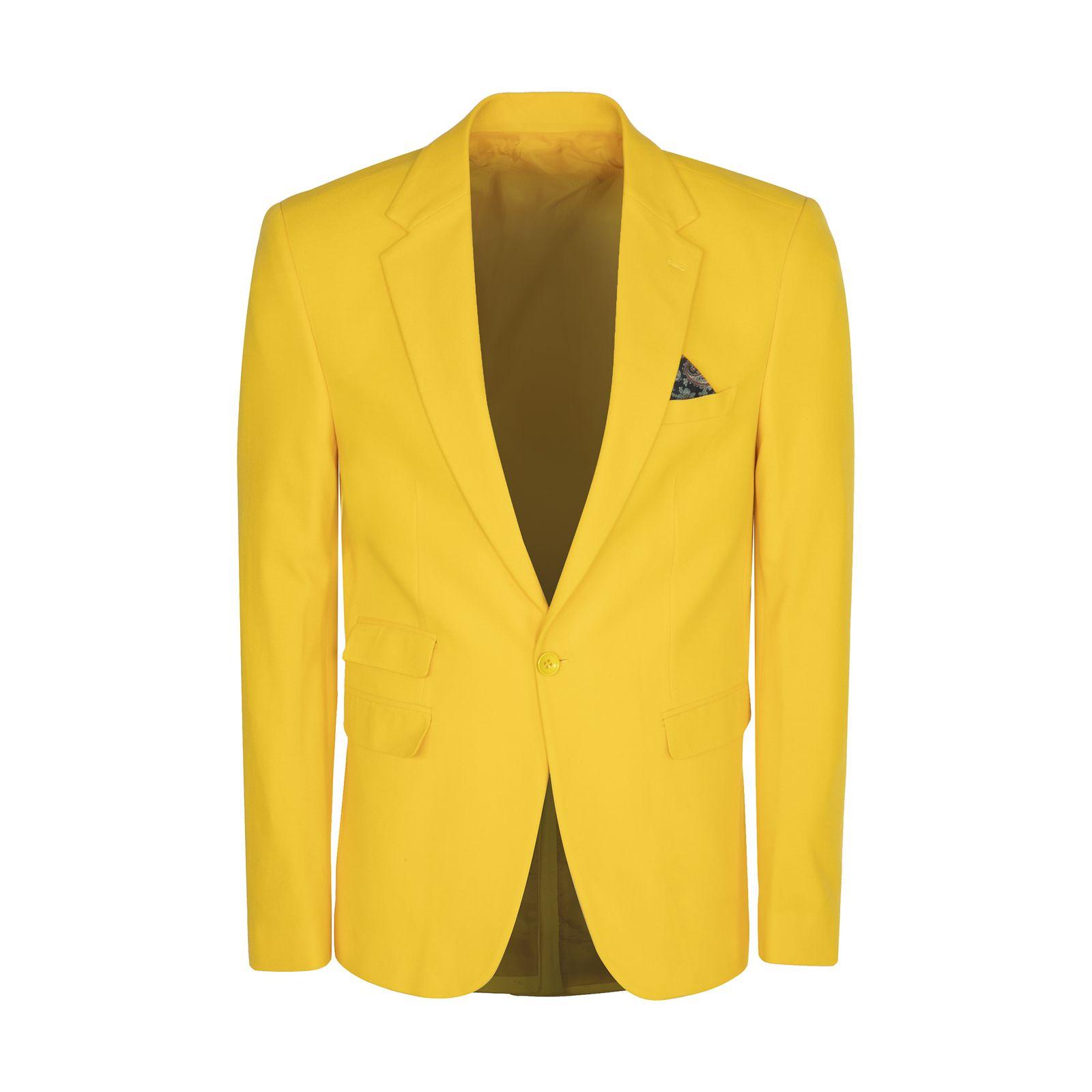 کت تک مردانه ان سی نو مدل جانسو رنگ زرد -  - 1