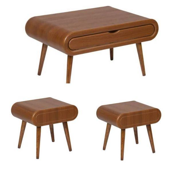 میز پذیرایی مدل H801 مجموعه 3 عددی