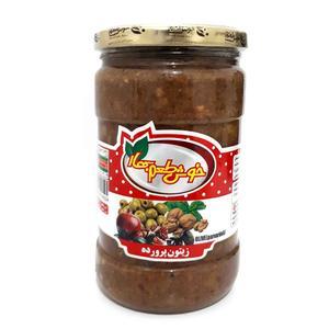 زیتون پرورده خوش طعم بهار - 680 گرم