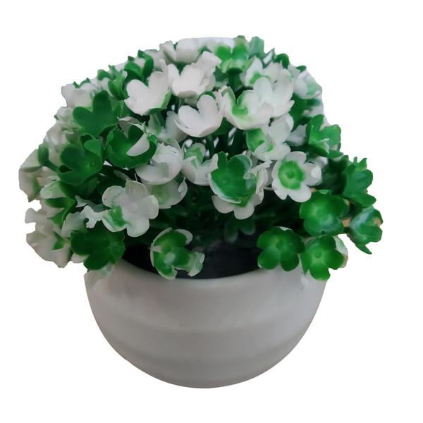 گلدان به همراه گل مصنوعی مدل L5