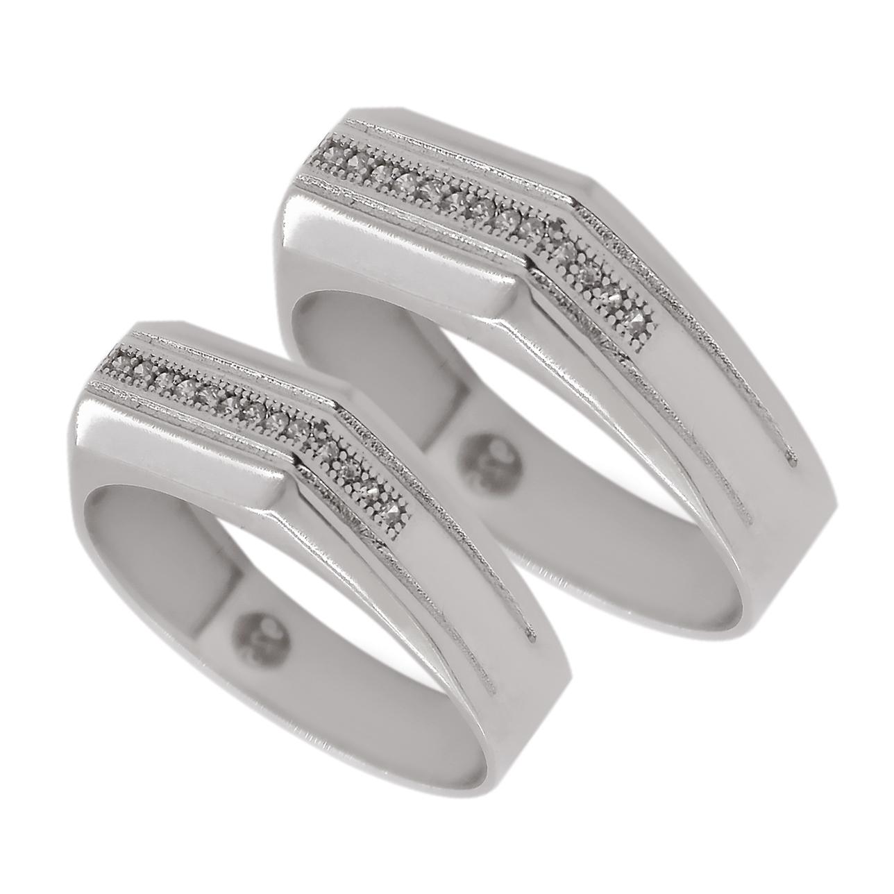 ست انگشتر نقره زنانه و مردانه مدل asd2134