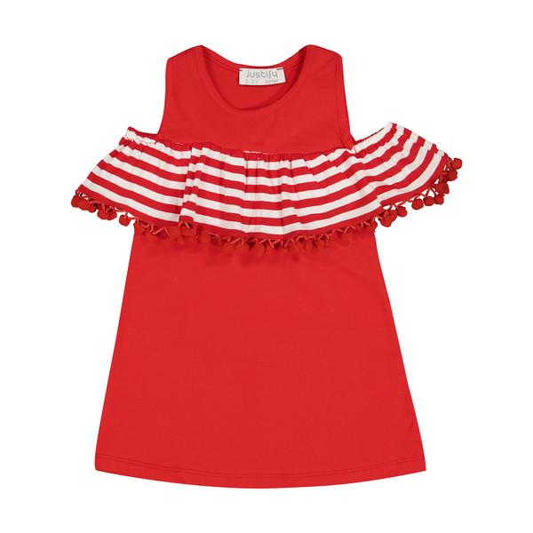 پیراهن دخترانه جاستیفای جونیور مدل K0442081DO-RED