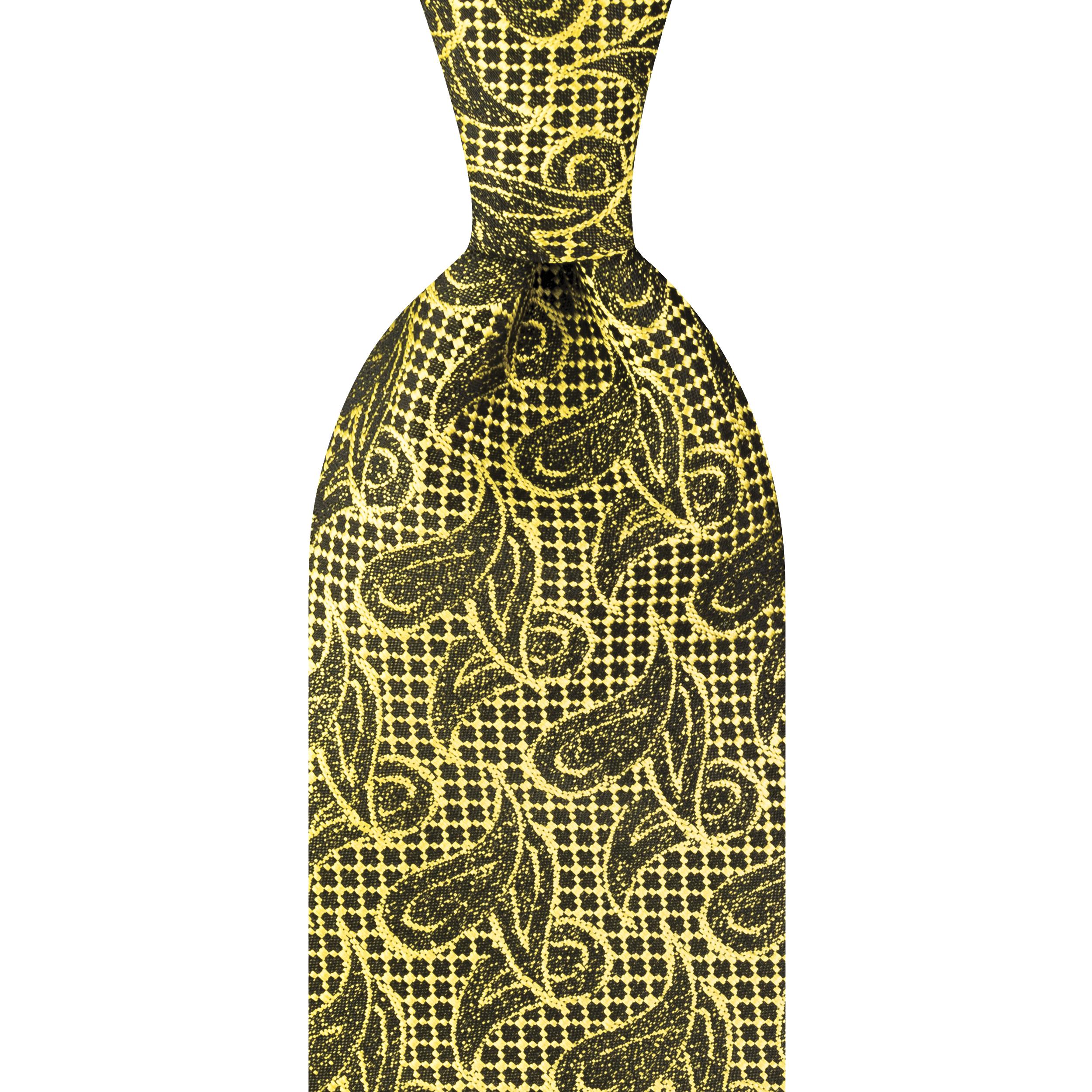 ست کراوات و دستمال جیب و گل کت مردانه جیان فرانکو روسی مدل GF-PA928-GO -  - 3