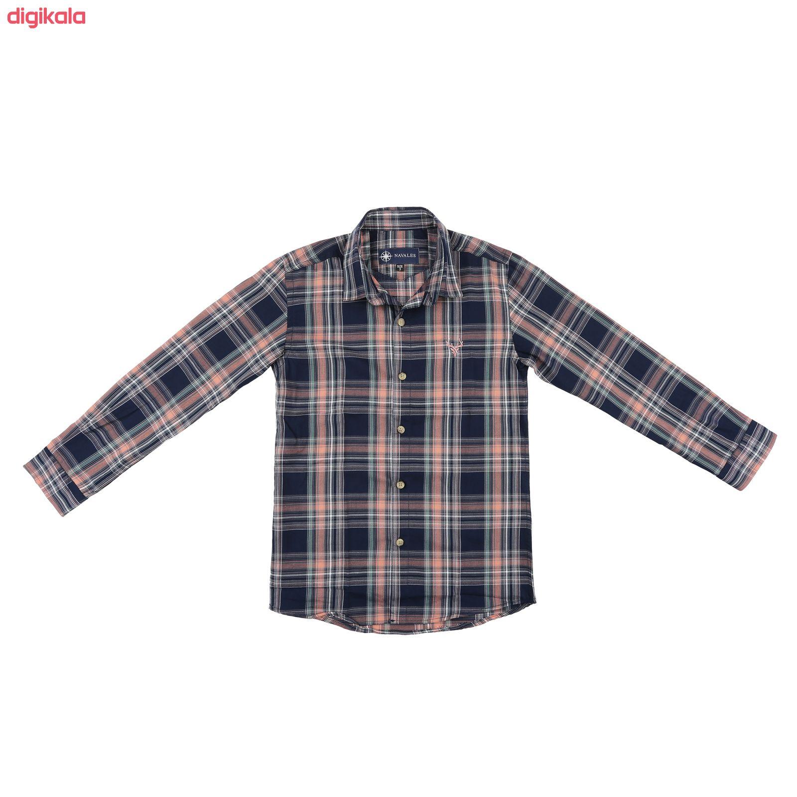 پیراهن پسرانه ناوالس کد G-20119-NV main 1 1