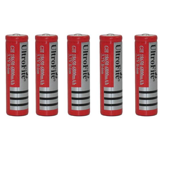 باتری لیتیوم-یون قابل شارژ اولترا فایت مدل OL-18650 ظرفیت6800 میلی آمپر ساعت بسته 5 عددی