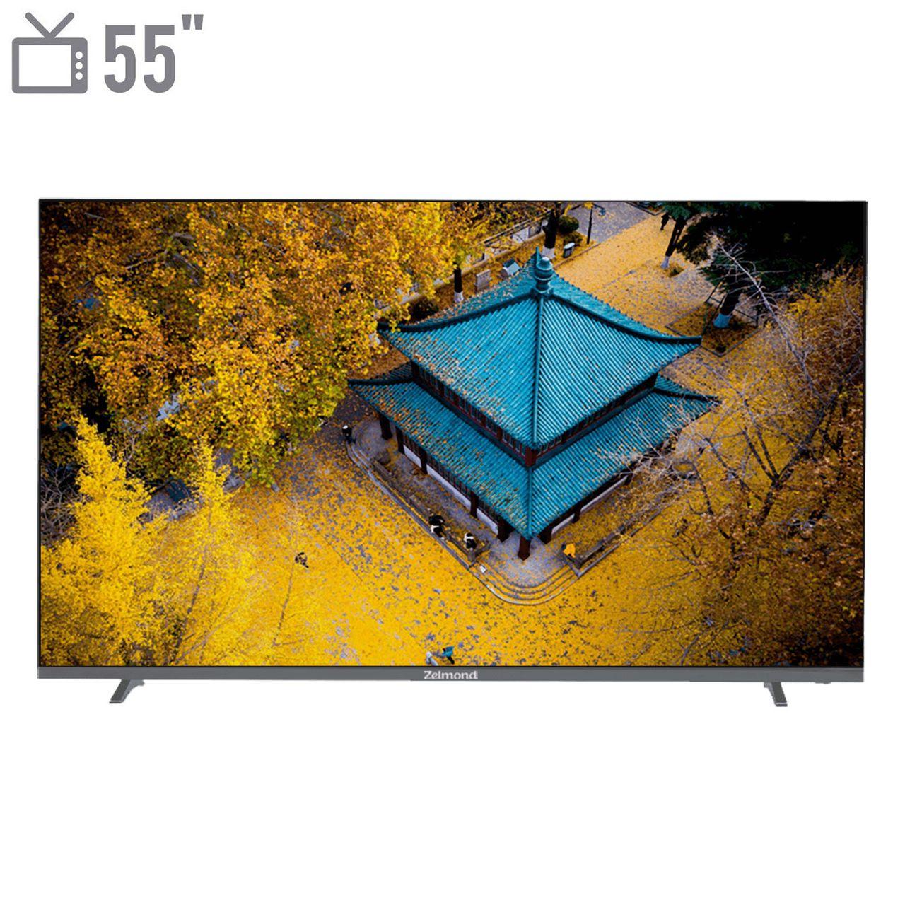 تلویزیون هوشمند ال ای دی زلموند مدل ZL-55SF6263 سایز 55 اینچ