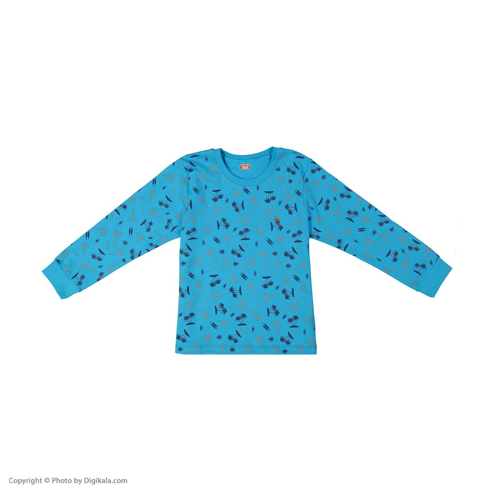 ست تی شرت و شلوار پسرانه مادر مدل 306-53 main 1 4