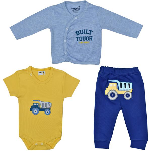 ست 3 تکه لباس نوزادی بی بی وان مدل کامیون