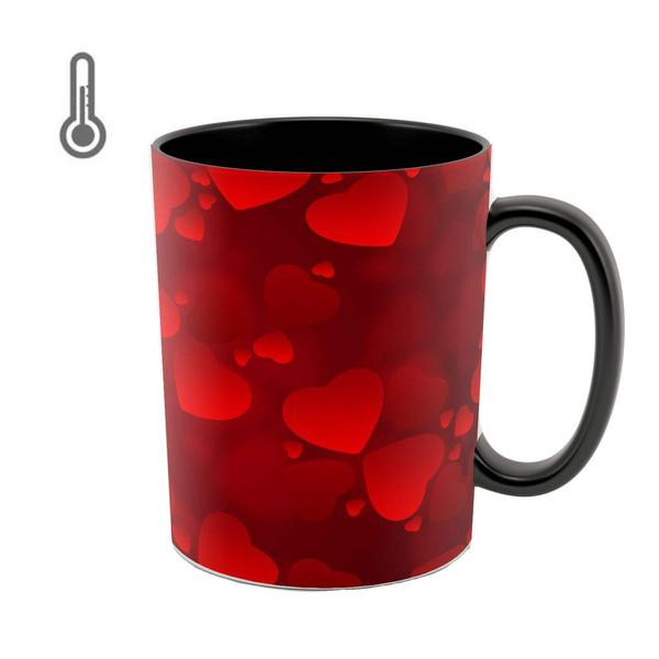 ماگ حرارتی طرح قلب قرمز کد 9017
