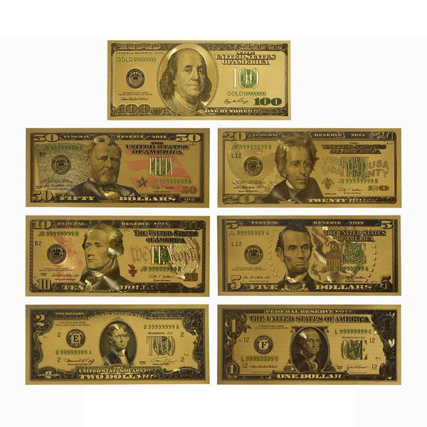 اسکناس تزیینی طرح دلار مجموعه 7 عددی