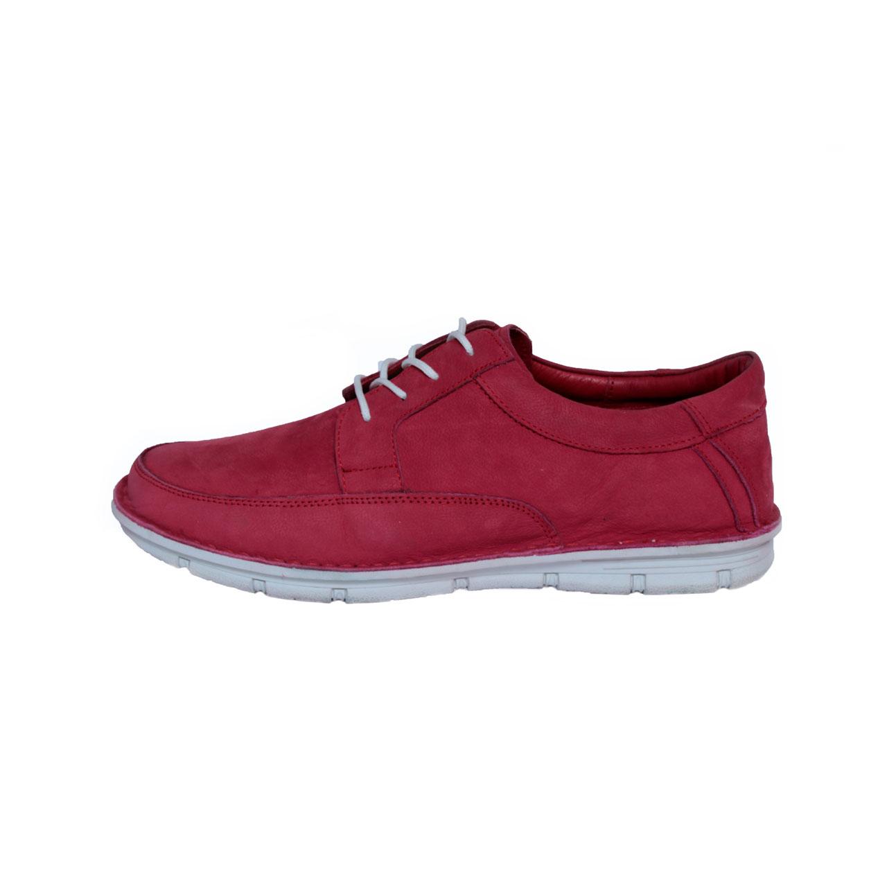 کفش روزمره مردانه ساینا چرم مدل M108 red