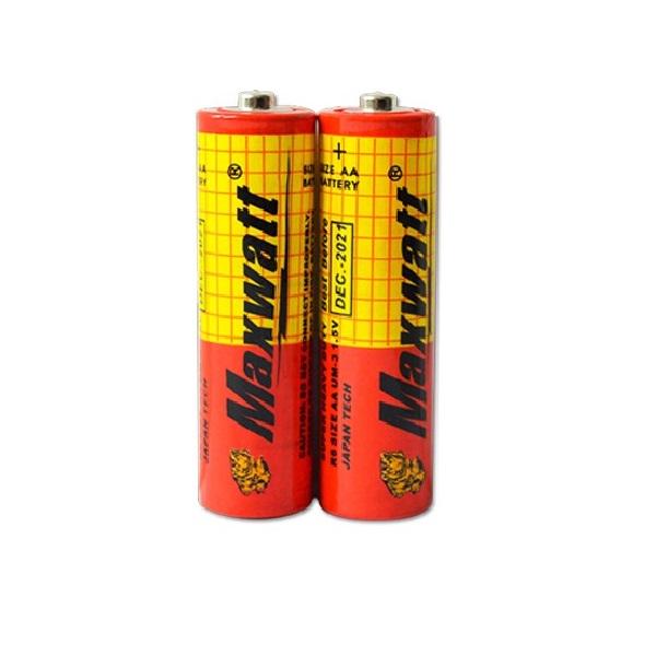 بررسی و {خرید با تخفیف} باتری نیم قلمی مکس وات مدل M02 بسته 60عددی اصل
