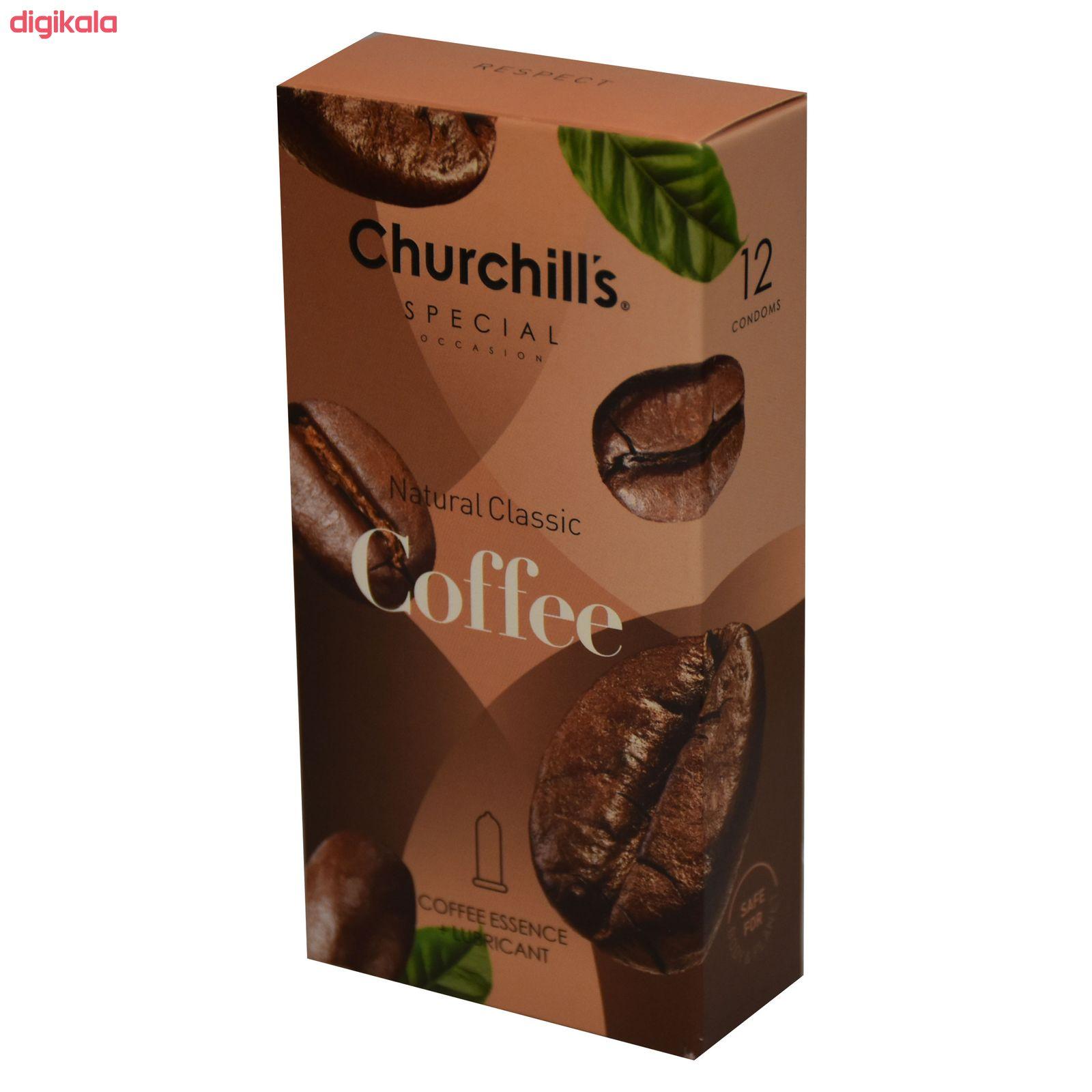 کاندوم چرچیلز مدل Natural Classic Coffee  بسته 12 عددی main 1 2
