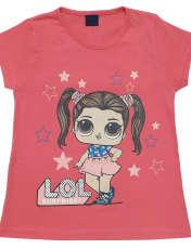 ست تی شرت و شلوارک دخترانه طرح LOL کد 1402 -  - 2