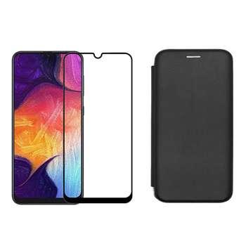 کیف کلاسوری بلوفاکس مدل BMGNT-FG مناسب برای گوشی موبایل سامسونگ Galaxy A30s\A50s\A50 به همراه محافظ صفحه نمایش