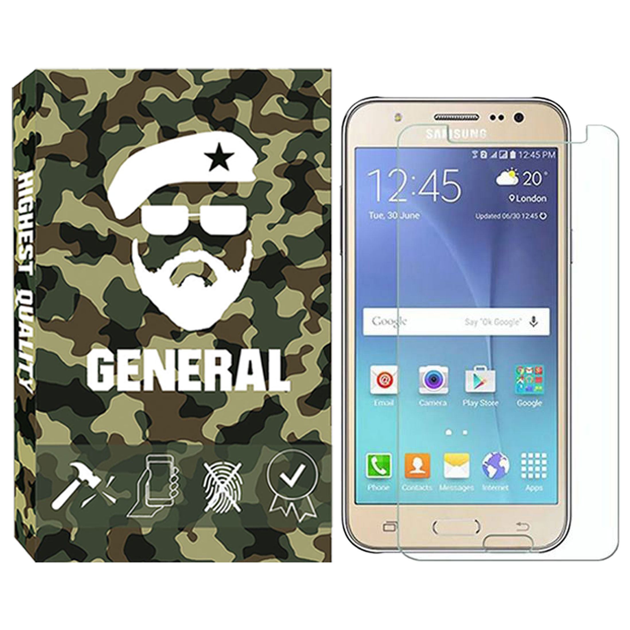 خرید اینترنتی [با تخفیف] محافظ صفحه نمایش ژنرال مدل GN-01 مناسب برای گوشی موبایل سامسونگ Galaxy J5 2015 اورجینال