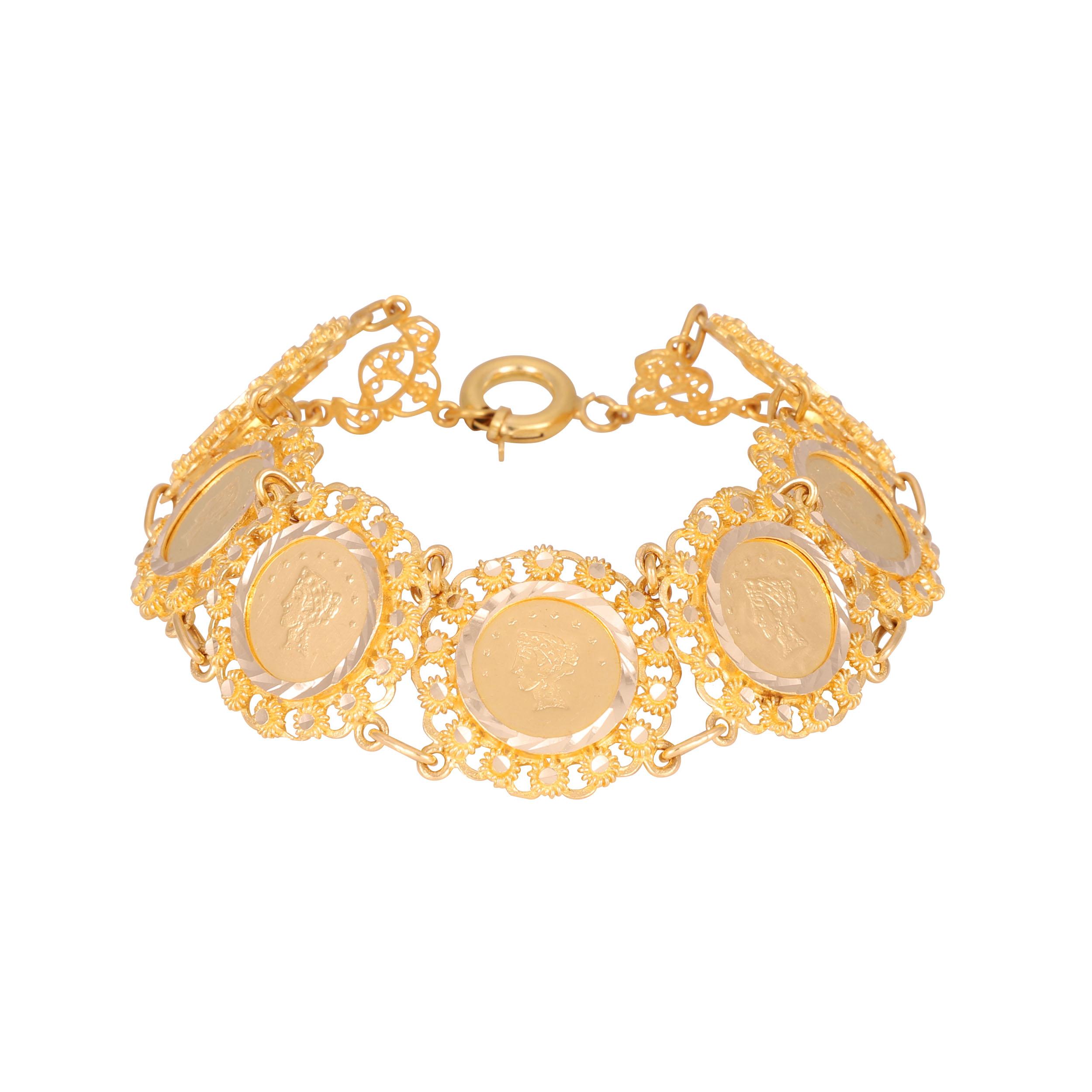 دستبند طلا 18 عیار زنانه کد G698