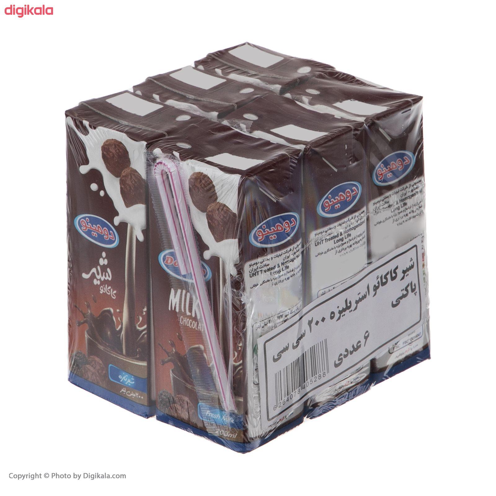شیر کاکائو دومینو - 0.2 لیتر بسته 6 عددی main 1 4
