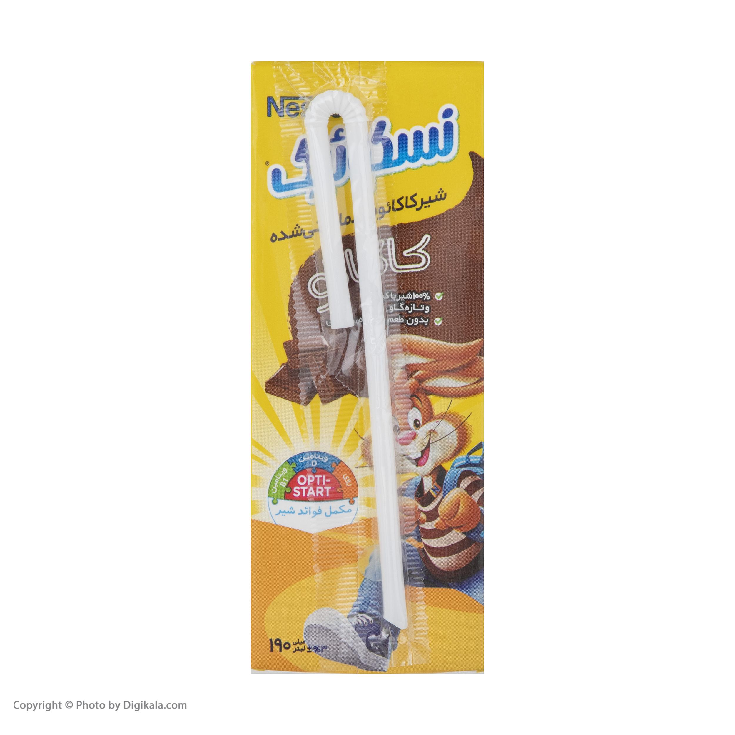 شیرکاکائو و شیر موز نسکوییک - 190 میلی لیتر مجموعه 6 عددی