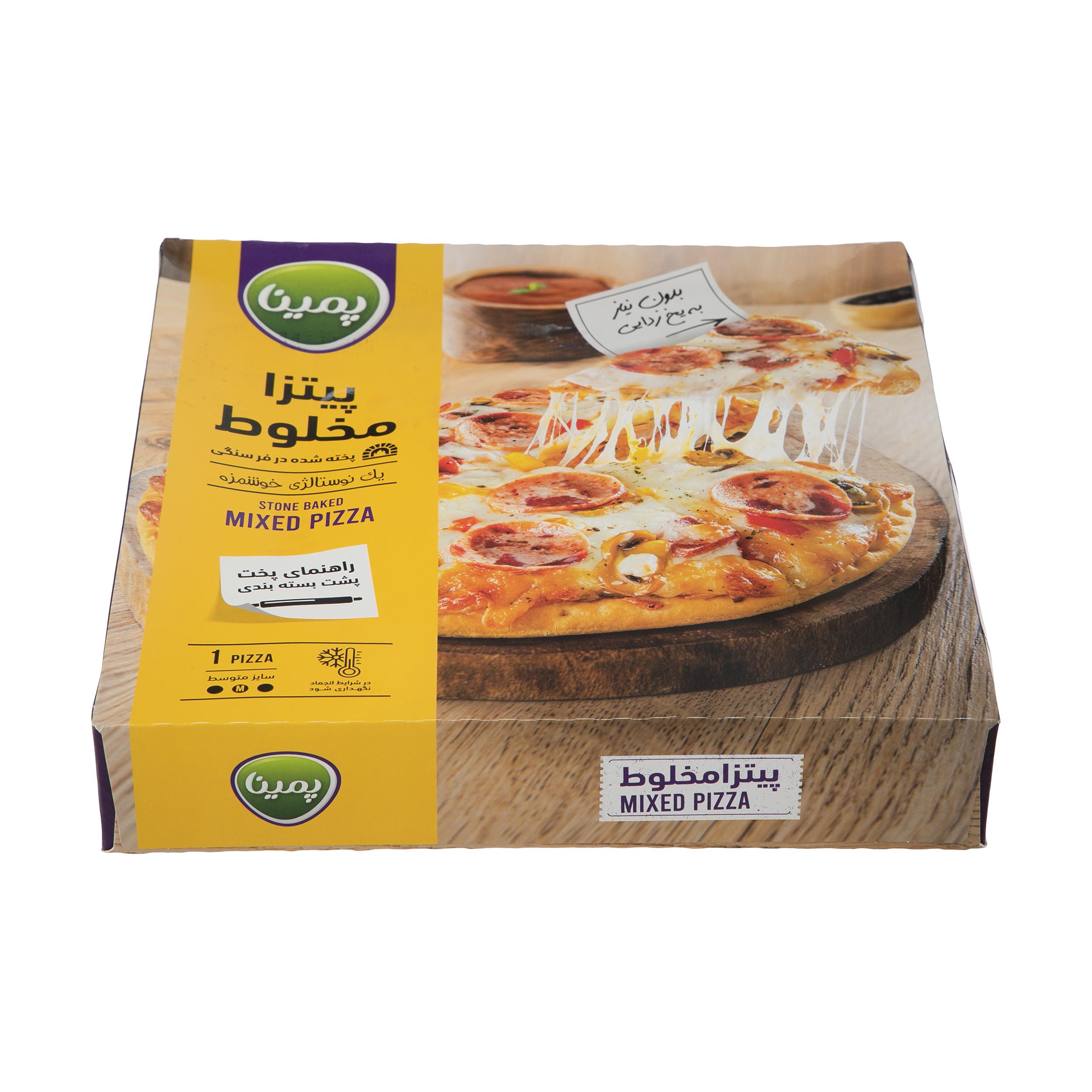 پیتزا مخلوط پمینا کاله مقدار 450 گرم