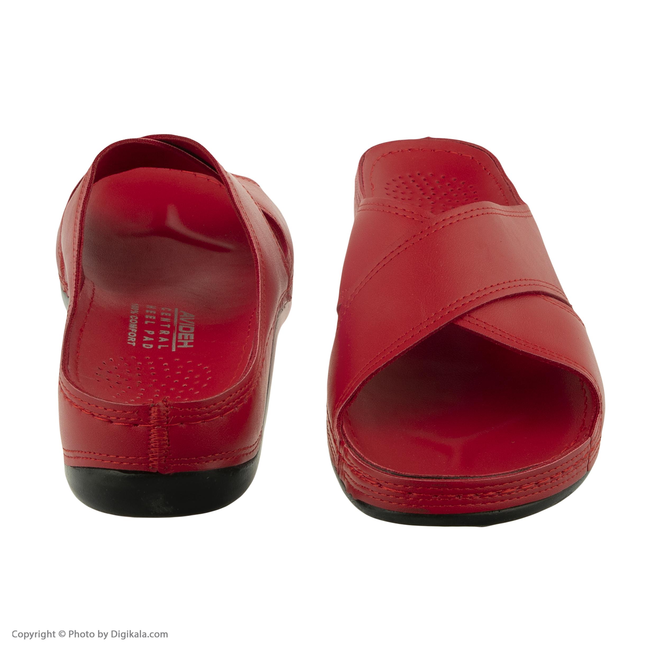 دمپایی زنانه کفش آویده کد av-0304506 رنگ قرمز -  - 6