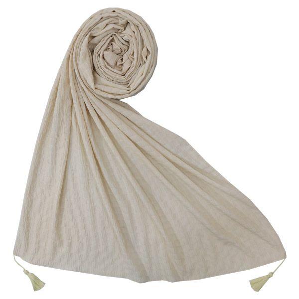 شال زنانه مدلساده پاییزه منگوله دار کد 009