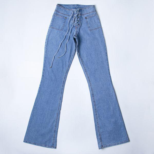 شلوار جین زنانه مدل پاچه گشاد