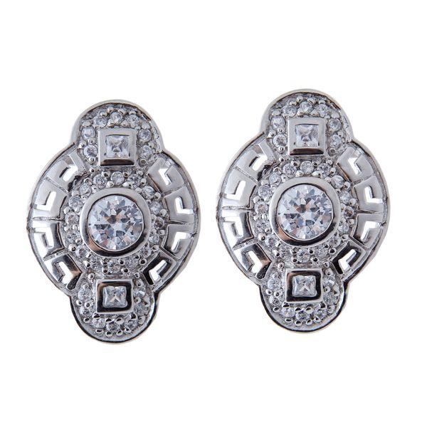 گوشواره نقره زنانه بازرگانی میلادی کد GZN_147