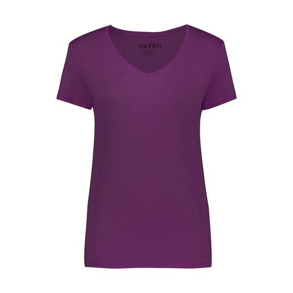 تی شرت زنانه کوتون مدل 0YAK13640OK-Violet