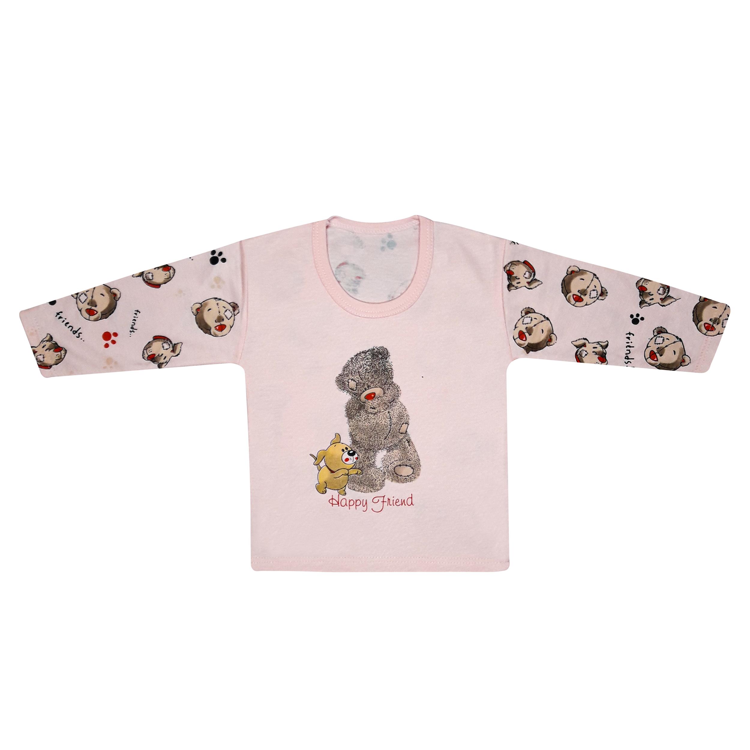 تی شرت آستین بلند نوزادی مدل 988581PI