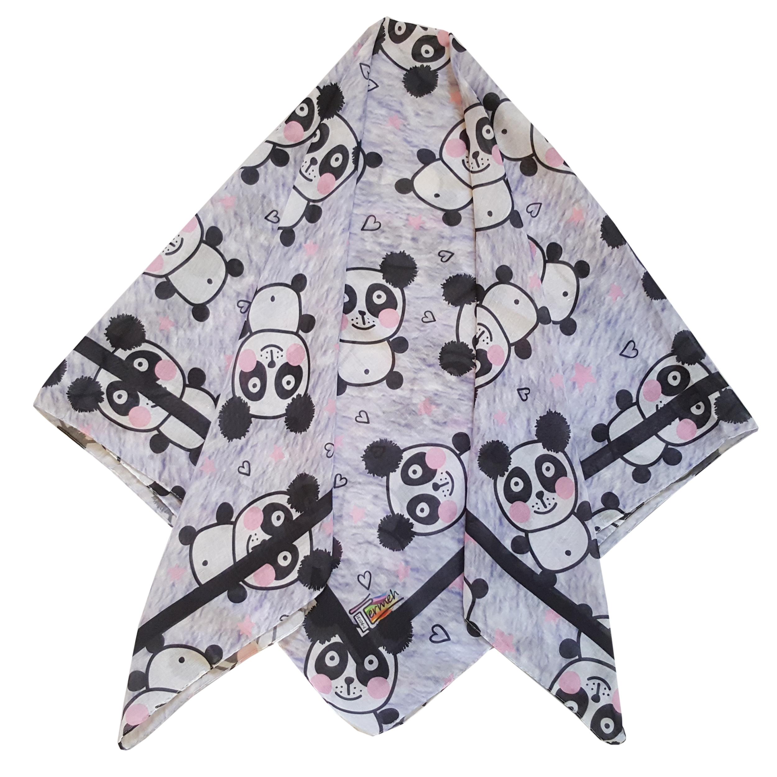 روسری دخترانه ترمه مدل پاندا کد san51-27